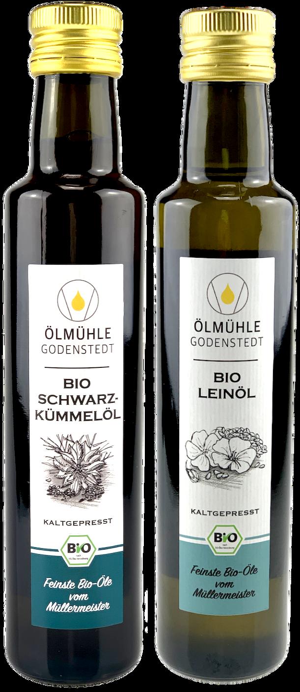 Bio Schwarzkümmelöl & Bio Leinöl