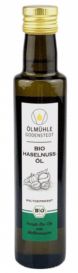 Bio Haselnussöl kaltgepresst aus deutscher Herstellung in 250ml Flasche